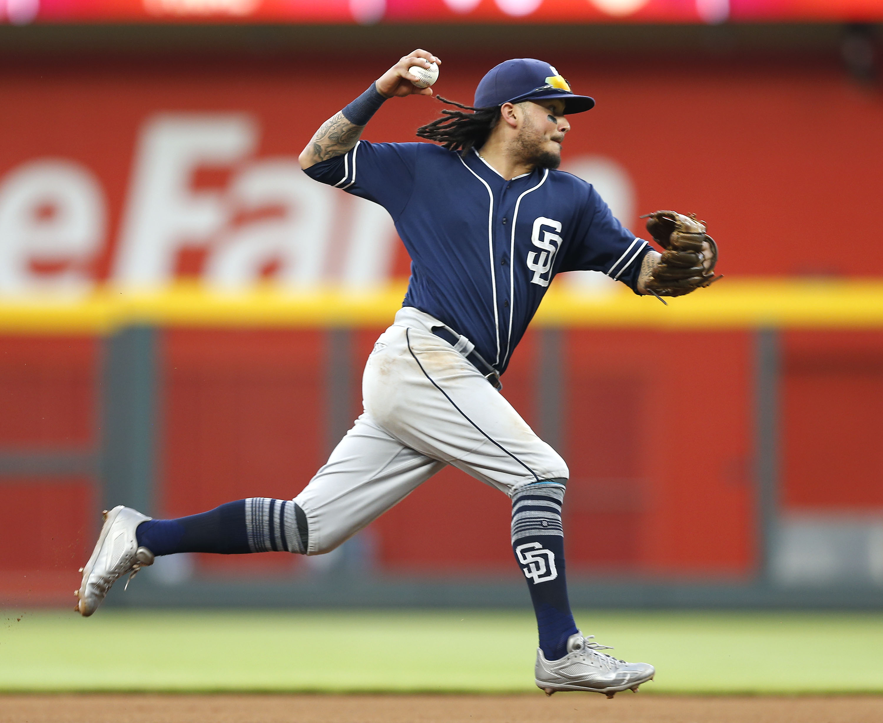 Shortstop Freddy Galvis #13 of the San Diego Padres. (Photo by Mike Zarrilli/Getty Images)