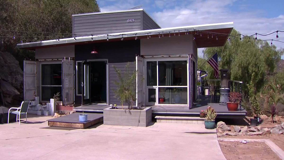 This Lakeside home made from shipping containers is just one example of alternative sources for housing construction.