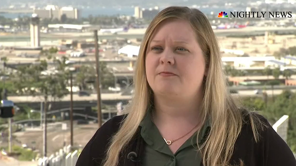 Jennifer Williamson spoke to NBC Nightly News in San Diego on March 28.