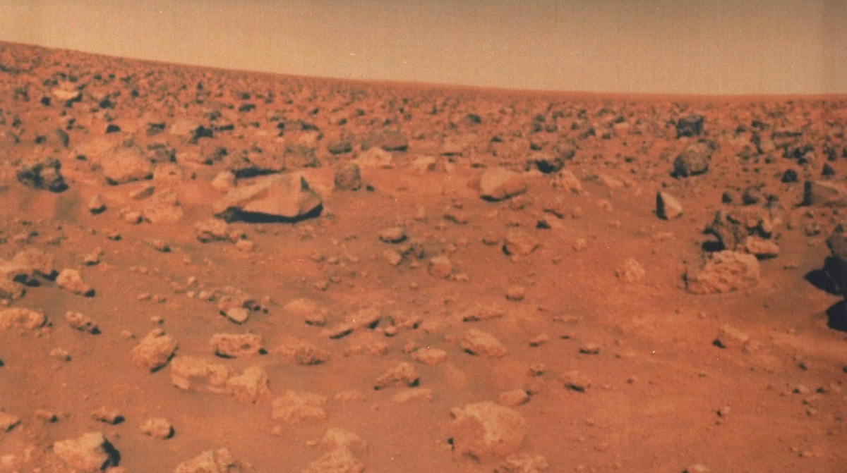 View of rocky surface of Mars from NASA's Viking 2.