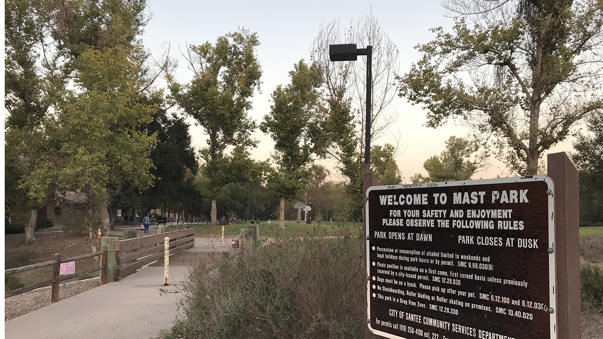 Mast Park on Carlton Hills Boulevard in Santee will be closed through late 2019 as it undergoes a $10 million renovation.