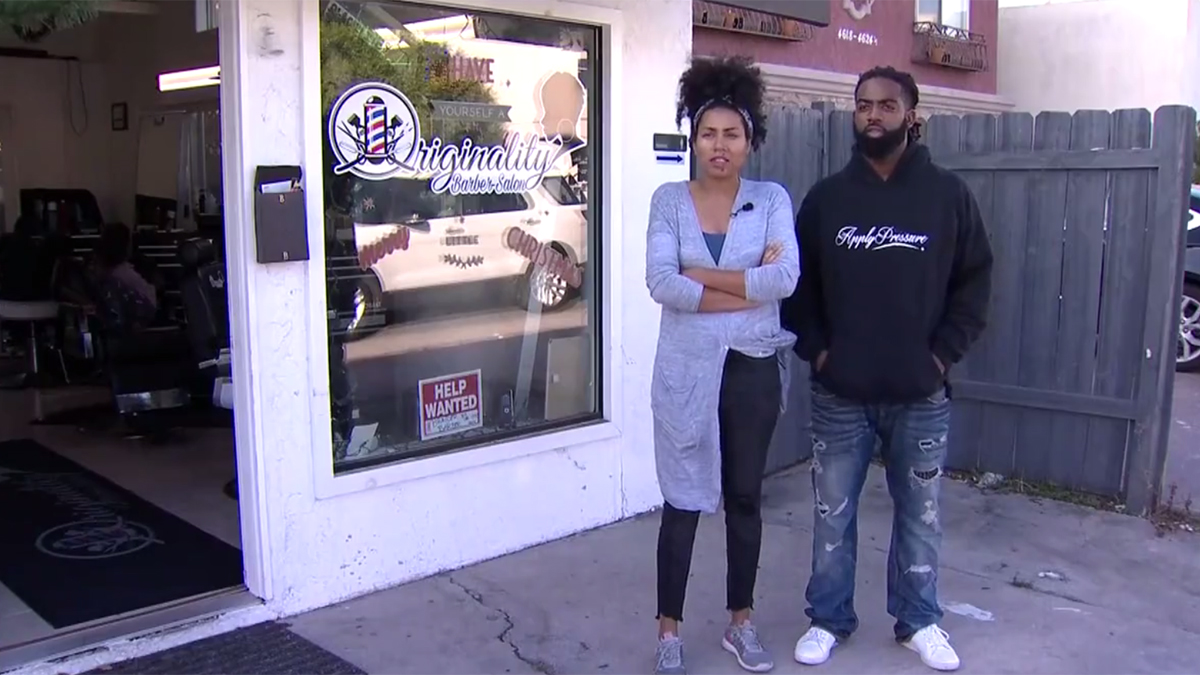 Melissa and Christopher Cage own the Originality Barber Salon on 30th Street in Normal Heights.