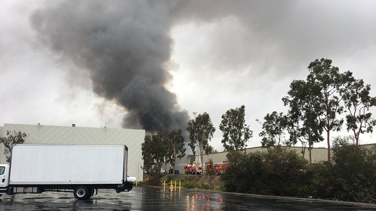 The scene of the fire in Miramar on March 17, 2018.