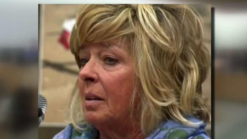 The mother of Joseph McStay, who provided emotional testimony at the McStay murder trial in San Bernardino on Jan. 7, 2019.