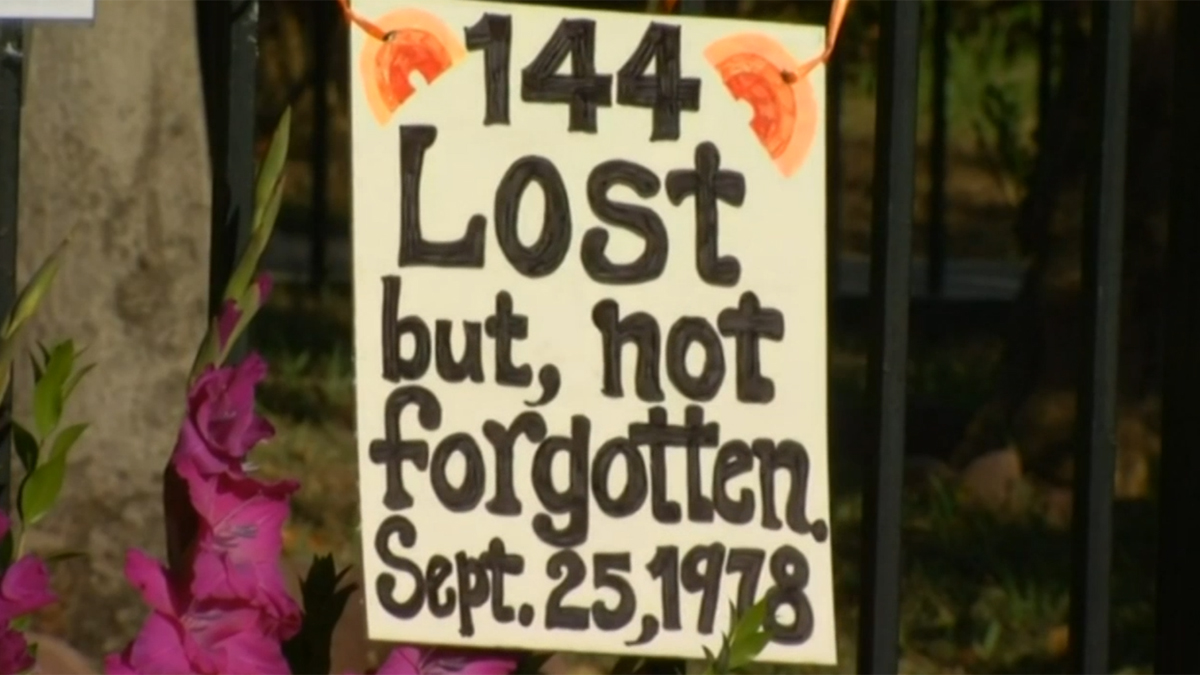 On Sept. 25, 1978, PSA Flight 182 crashed with a Cessna over North Park, killing 144 people in the deadliest aircraft disaster in California's history. Now, 36 years later, San Diegans gathered at the site of the crash to pay their respects to the victims who are gone, but not forgotten.