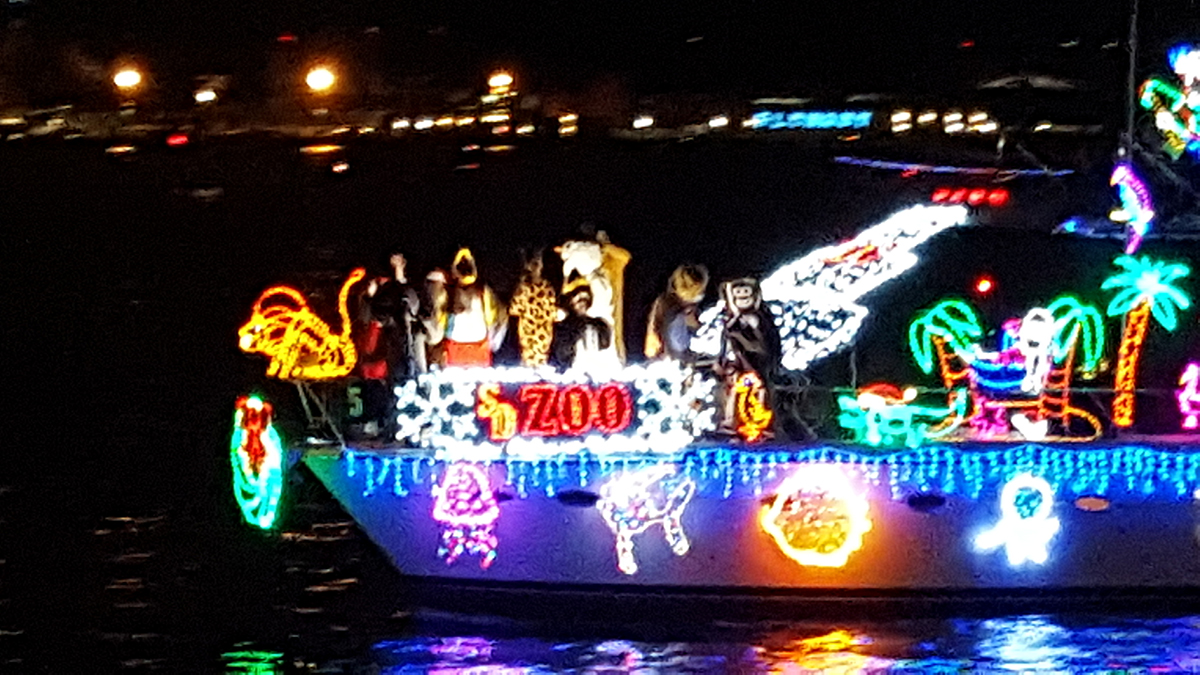 Images from the 2016 San Diego Bay Parade of Lights. The theme was the San Diego Zoo Centennial Celebration.