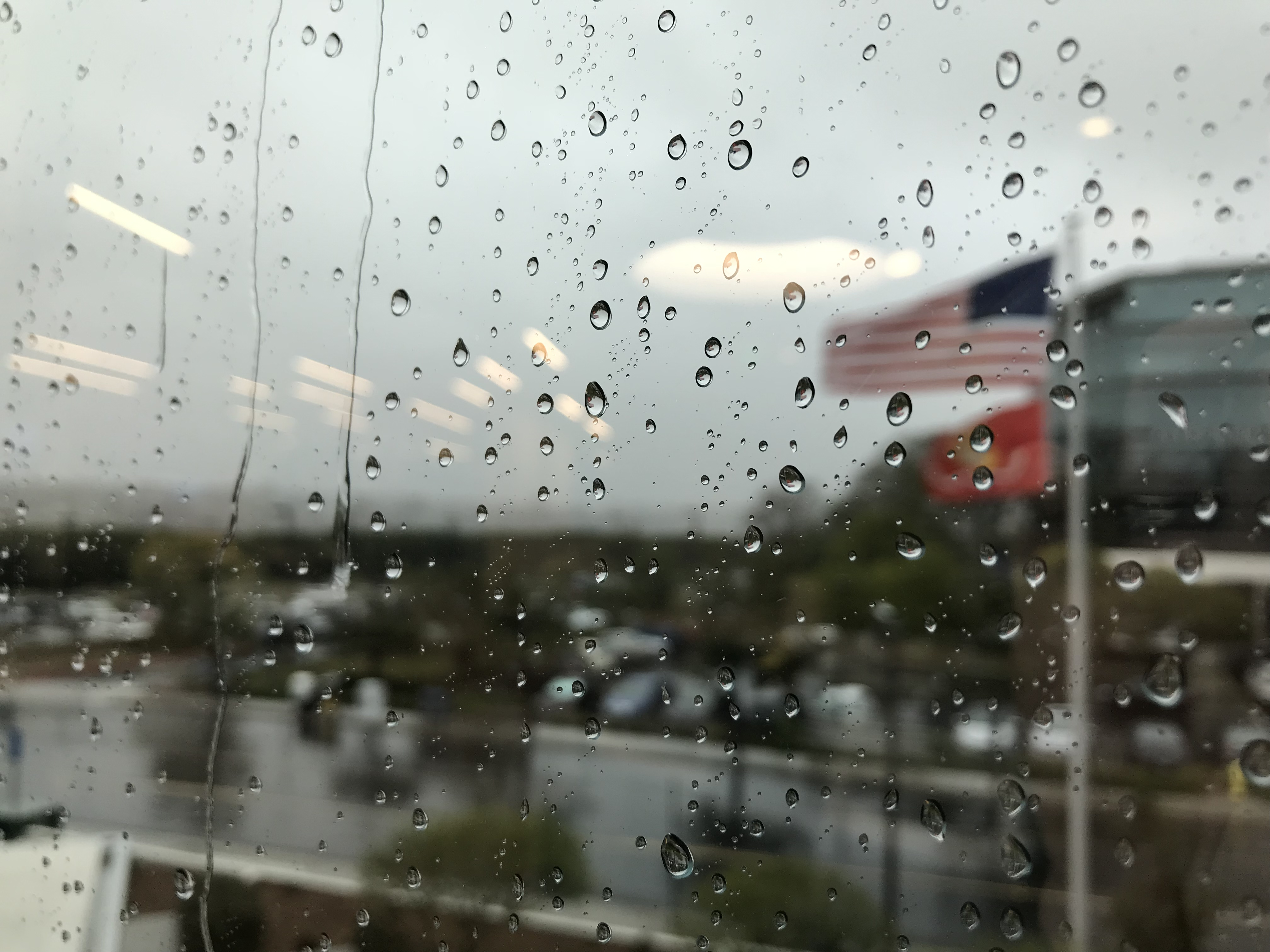 The rain had hit hard in Kearny Mesa by 11 a.m. Thursday.