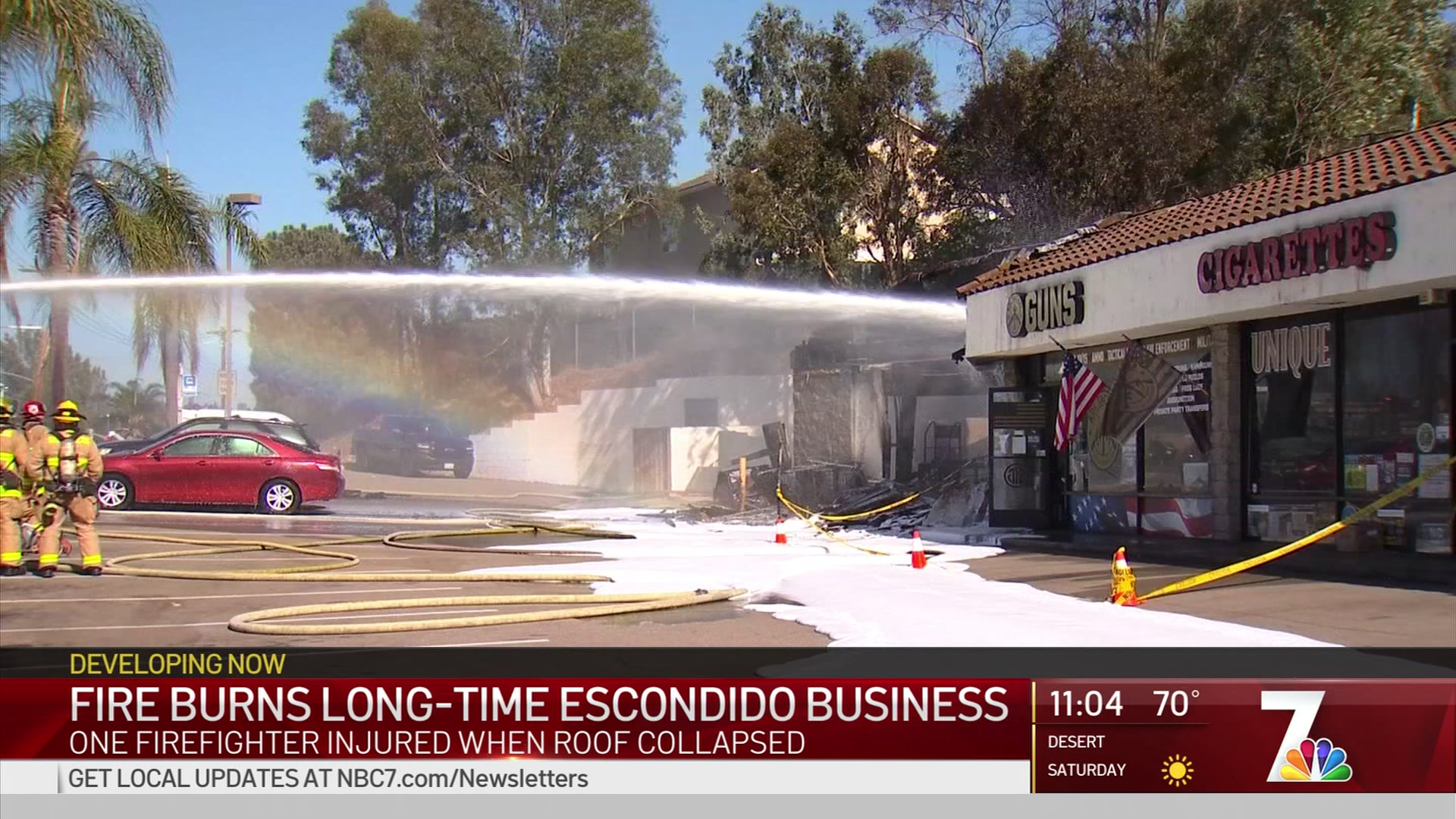 Random Sparks Lead to Fire at Escondido Dry Cleaning Shop