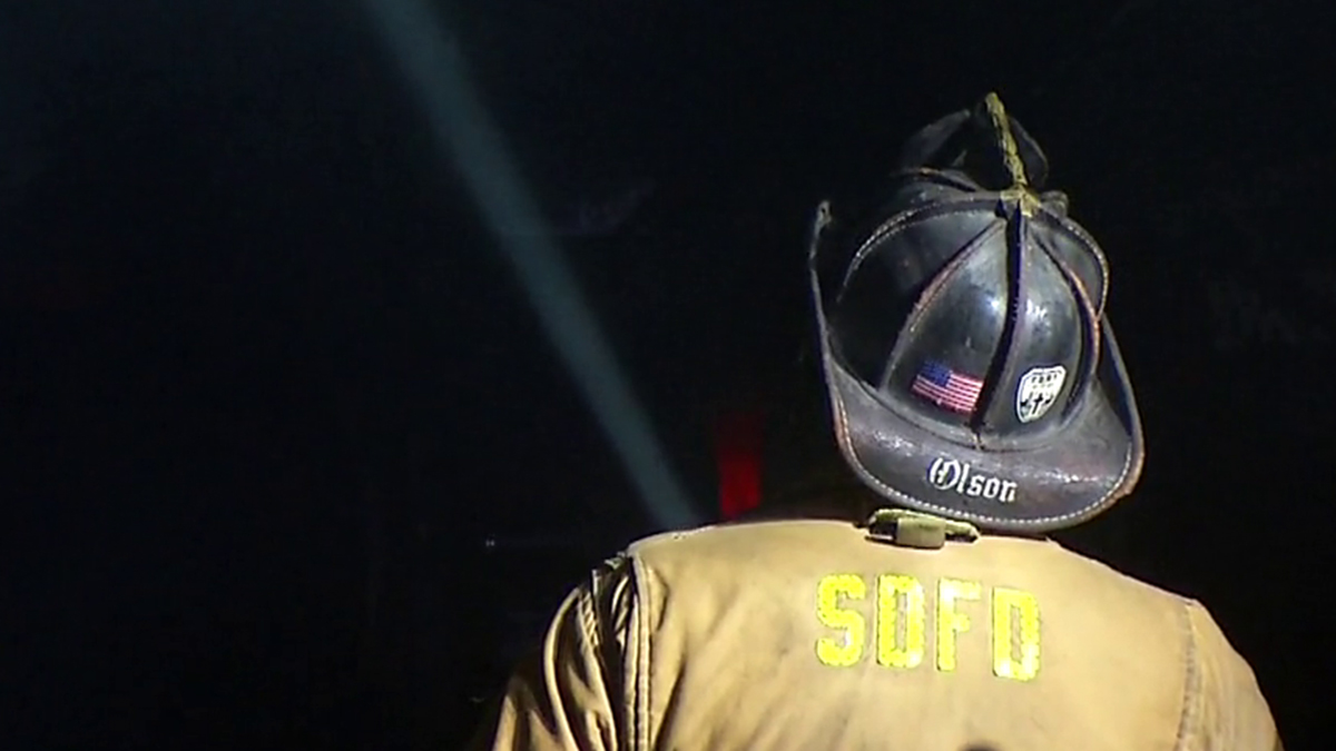 An image of an SDFD firefighter at work on July 14, 2018.