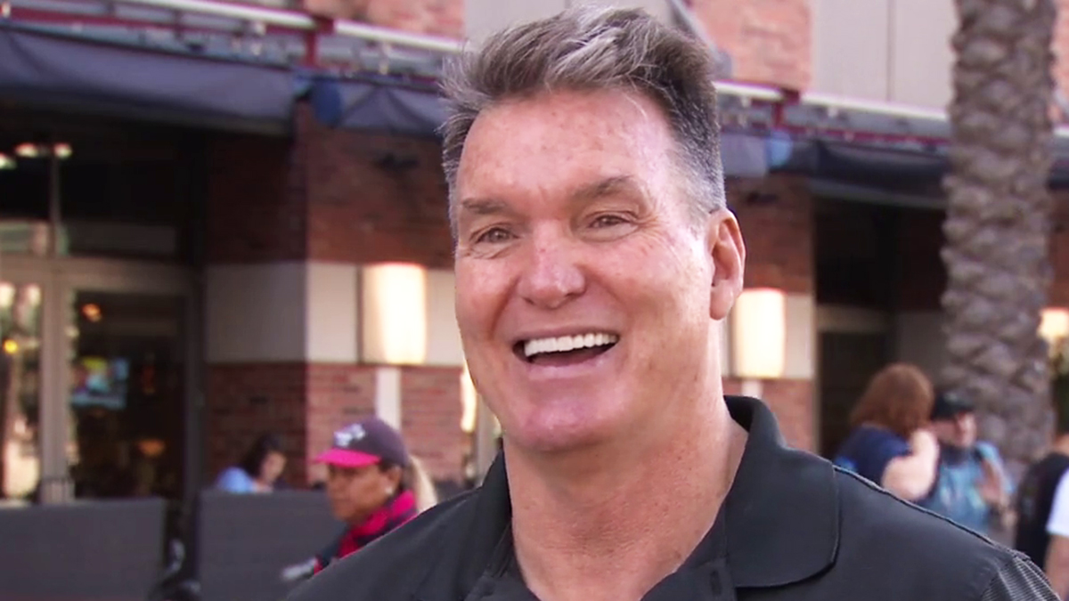 Sam Jones talks with NBC 7 in the Gaslamp Quarter outside of the 2018 San Diego Comic-Con convention.