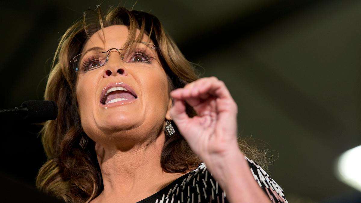 File photo, former Alaska Gov. Sarah Palin.