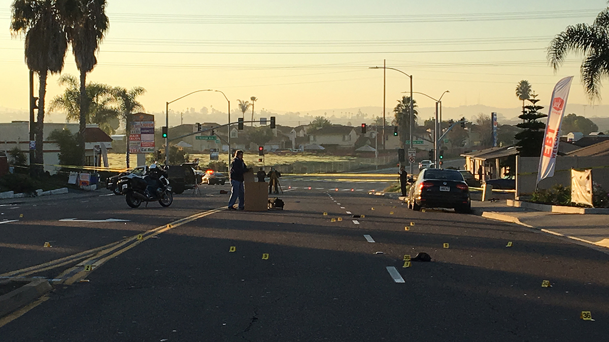 The scene of the deadly electric scooter crash in Chula Vista on Dec. 22, 2018.