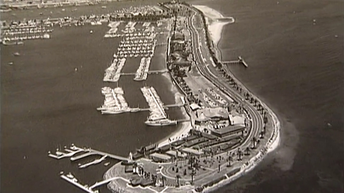An image of Shelter Island provided to About San Diego in 2003.