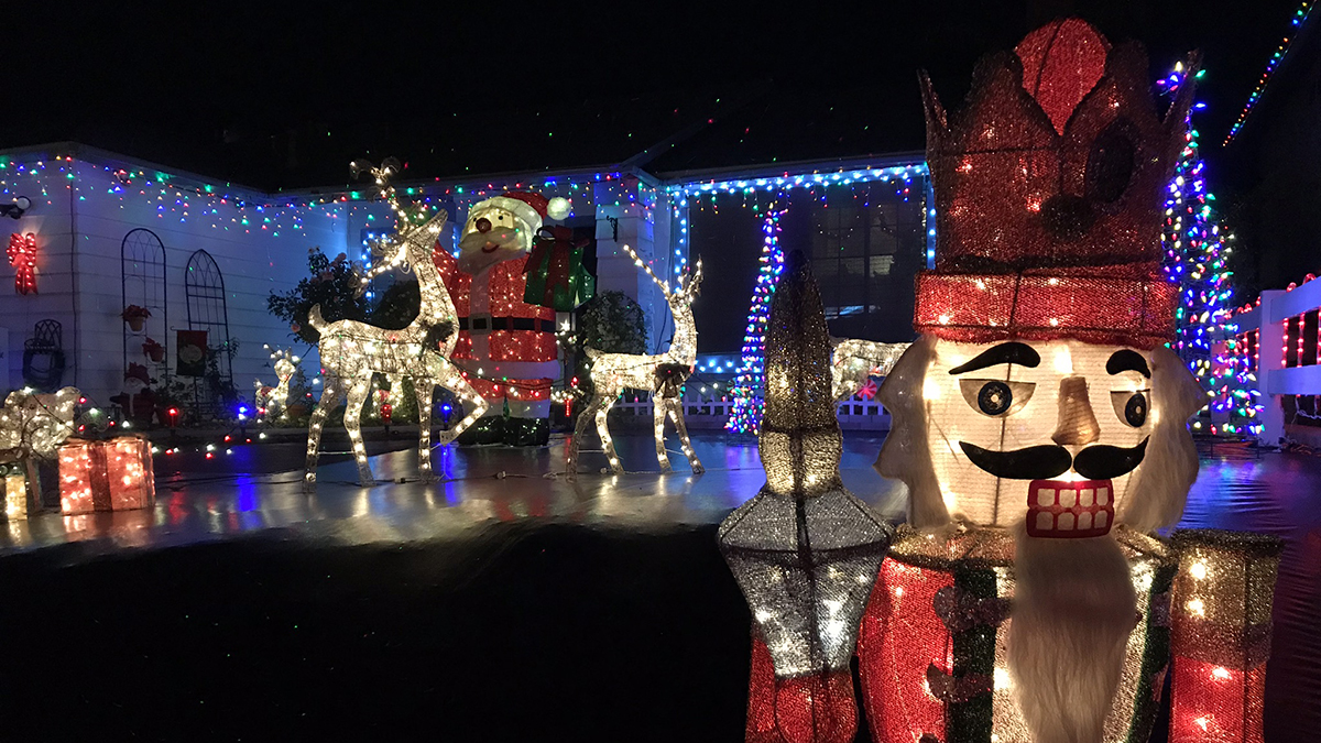 Starlight Circle in Santee is among the neighborhoods in San Diego County that goes all out with the holiday lights and decorations.