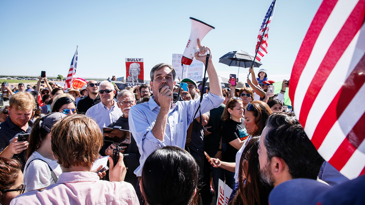 U.S. Rep. Beto O'Rourke of El Paso led a march in Tornillo, Texas. Over 1,000 protested the decision by President Donald Trump's administration to separate migrant children from the parents at the border.