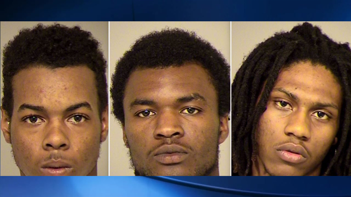 The suspects arrested in this human trafficking incident in Ventura include Brian Lewis (left), Dameon Howard (center) and Dashawn Jackson (right). All of them are from Fresno.
