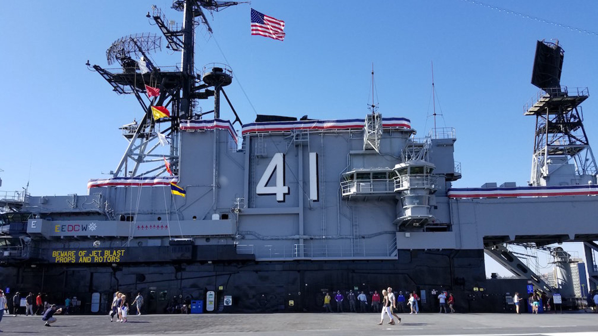 The USS Midway Museum is located along downtown San Diego's waterfront.