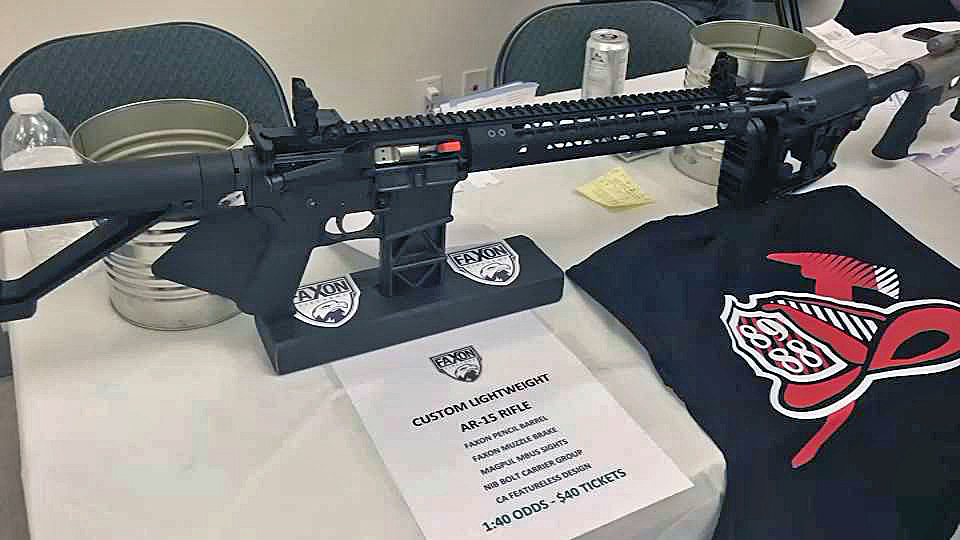 A firefighters union in a Sacramento suburb was auctioning off an AR-15 at a fundraiser Saturday night. (Feb. 18, 2018)