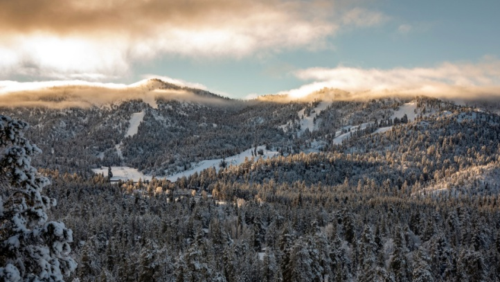There's snow in those mountains: On Friday, Dec. 7, Big Bear Mountain Resort shared several snow-laden looks at its most recent snowfall, which immediately followed a few other significant flake-accumulating storms.