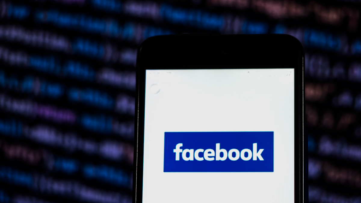 In this undated file photo, the Facebook logo is displayed on a smartphone.
