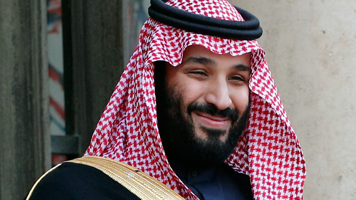 In this April 10, 2018, file photo, Saudi Arabia Crown Prince Mohammed bin Salman appears in Paris.