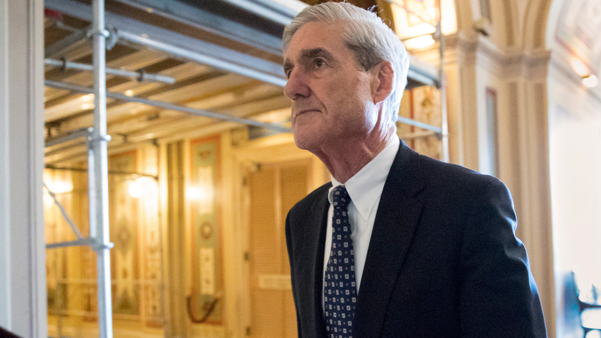 FILE - In this June 21, 2017, file photo, special counsel Robert Mueller departs after a meeting on Capitol Hill in Washington.