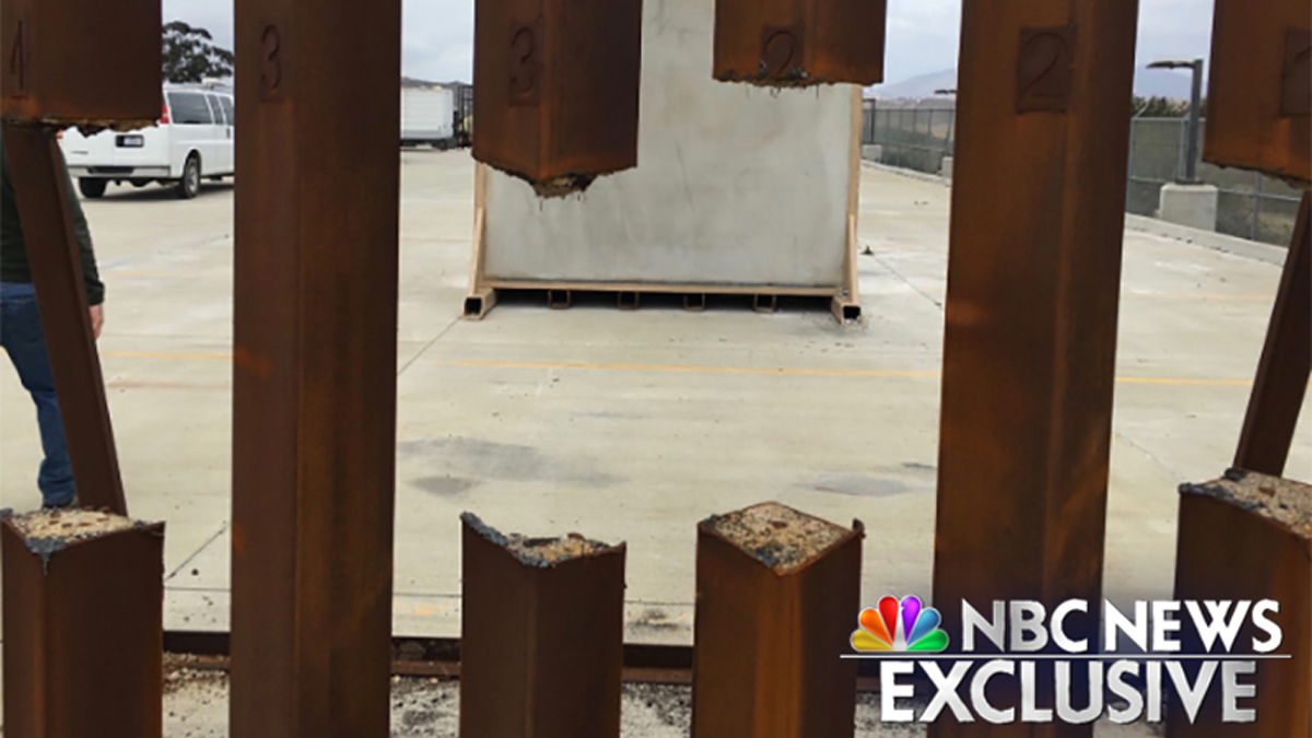 A test of a steel prototype for the proposed border wall showed it could be sawed through.